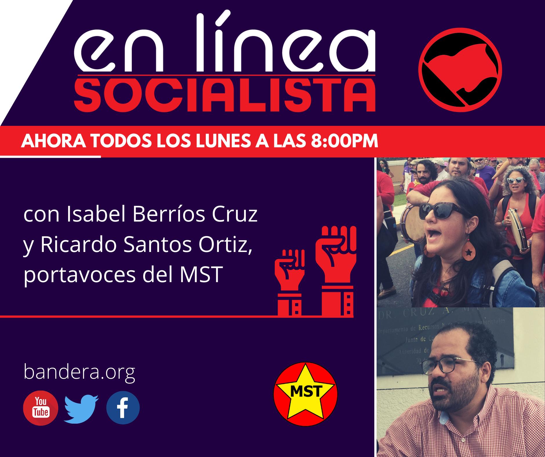 Promoción En Línea Socialista los Lunes 8:00PM