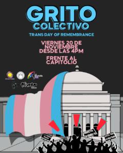 Convocatoria Grito Colectivo - 20 de noviembre - 4:00PM frente al Capitolio